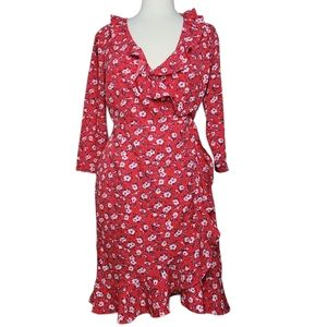 VERO MODA MOLLY POLY Dress Wrap Floral Ruffles